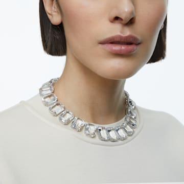 Millenia Halskette, Kristalle mit Oktagonschliff, Weiss, Rhodiniert - Swarovski, 5599149