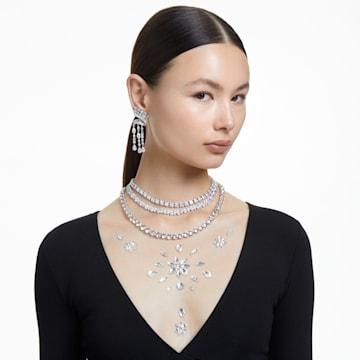 Collana Millenia, Swarovski Zirconia e cristallo taglio quadrato, Bianco, Placcato rodio - Swarovski, 5599153
