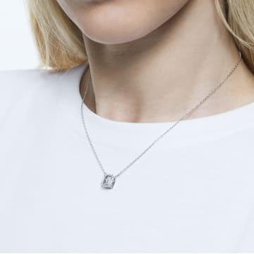 Collier Millenia, Swarovski Zirconia carré, Blanc, Placage de ton or - Swarovski, 5599177