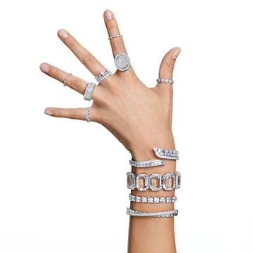 Millenia bracelet, Octagon cut crystals, White, Rhodium plated - Swarovski, 5599192