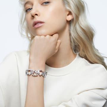 Millenia bracelet, Triangle cut crystals, White, Rhodium plated - Swarovski, 5599194