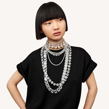 Millenia 项链, 方形切割仿水晶, 白色, 镀铑 - Swarovski, 5599206