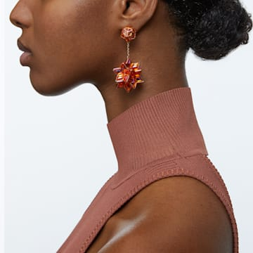 Curiosa 水滴形耳環, 幾何形Swarovski 水晶, 粉紅色, 鍍玫瑰金色調 - Swarovski, 5599920
