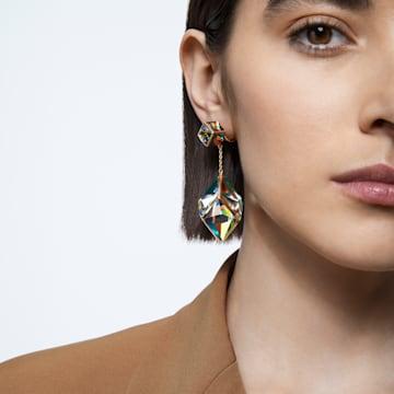 Boucles d'oreilles clip Curiosa, Multicolore, Métal doré - Swarovski, 5599921