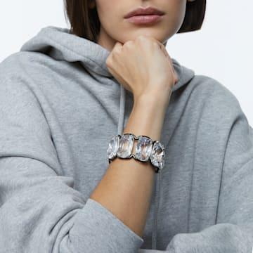 Harmonia 闊手鐲, 超大懸浮Swarovski 水晶, 白色, 多種金屬潤飾 - Swarovski, 5600039
