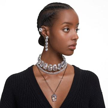 Pendentif Harmonia, Cristal oversize, Blanc, Finition mix de métal - Swarovski, 5600042