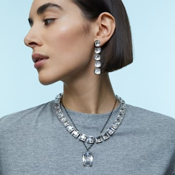 Wisiorek Harmonia, Duży kryształ, Biały, Wykończenie z różnobarwnych metali - Swarovski, 5600042