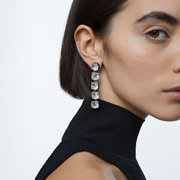 Harmonia 水滴形耳环, 枕形切割悬浮仿水晶, 白色, 多种金属润饰 - Swarovski, 5600043
