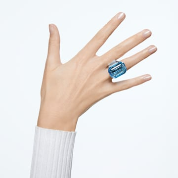 Lucent cocktail ring, Blue - Swarovski, 5600235