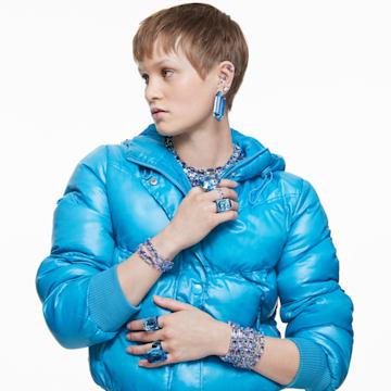 Lucent 个性戒指, 蓝色 - Swarovski, 5600235