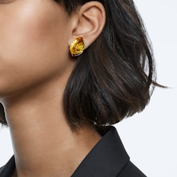 Lucent 耳钉耳环, 单个, 黄色, 镀金色调 - Swarovski, 5600253