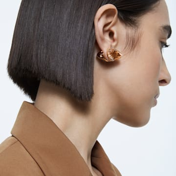 Lucent 耳釘耳環, 單個, 粉紅色, 鍍玫瑰金色調 - Swarovski, 5600254