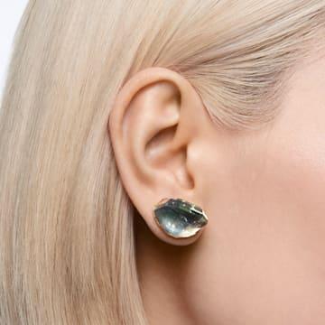 Lucent 耳釘耳環, 單個, 藍色, 鍍白金色 - Swarovski, 5600255