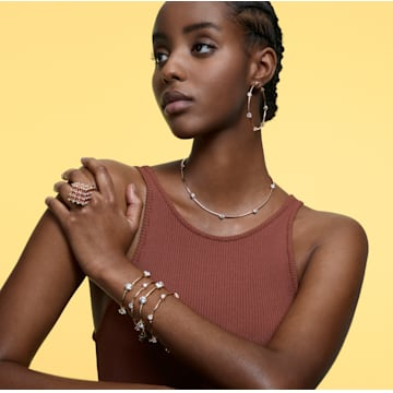 Constella bracelet, White, Gold-tone plated - Swarovski, 5600487