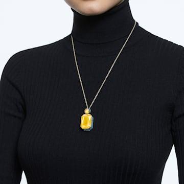 Orbita Halskette, Kristall im Octagon-Schliff, Mehrfarbig, Goldlegierung - Swarovski, 5600516