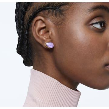 Orbita 耳钉耳环, 单个, 水滴切割仿水晶, 流光溢彩, 镀金色调 - Swarovski, 5600524