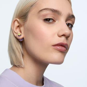 Orbita 귀걸이, 싱글, 옥타곤 컷 크리스털, 멀티컬러, 골드 톤 플래팅 - Swarovski, 5600526