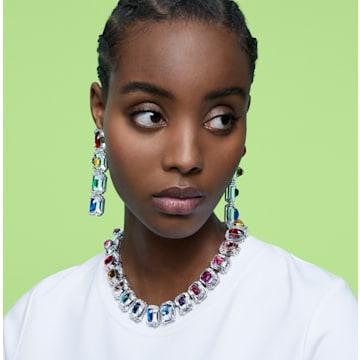 Chroma 夹式耳环, 超大仿水晶, 流光溢彩, 镀铑 - Swarovski, 5600628