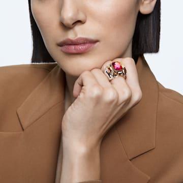 Chroma 个性戒指, 粉红色, 镀金色调 - Swarovski, 5600660