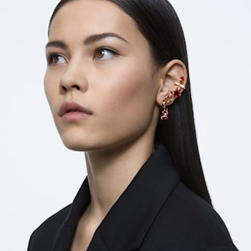 Gema oorbellen , Meerkleurig, Goudkleurige toplaag - Swarovski, 5600762