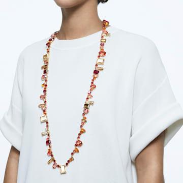 Gema Halskette, Extralang, Mehrfarbig, Goldlegierung - Swarovski, 5600764