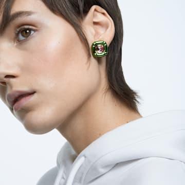 Dulcis 耳釘, 枕形切割Swarovski水晶, 綠色 - Swarovski, 5600778