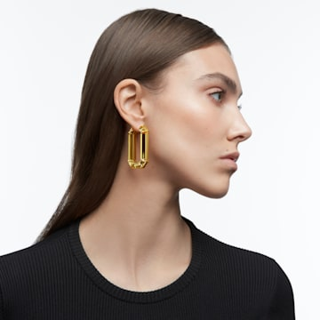 Lucent 大圈耳环, 黄色, 镀铑 - Swarovski, 5600789