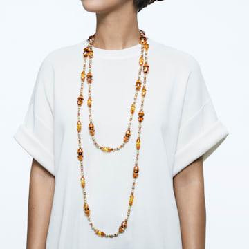 Collar Somnia, Extralargo, Marrón, Baño tono oro - Swarovski, 5600790