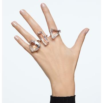 Mesmera 鸡尾酒戒指, 套装 (3), 白色, 镀铑 - Swarovski, 5600854