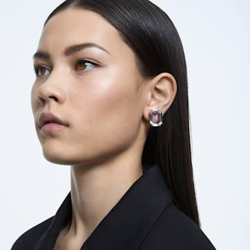 Mesmera clip earring, Single, Octagon cut crystal, Rhodium plated - Swarovski, 5600860