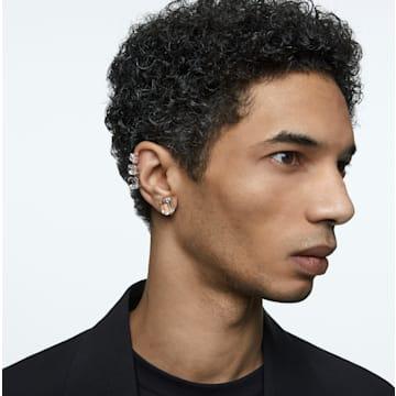Mesmera 夹式耳环, 单个, 八角形切割仿水晶, 白色, 镀铑 - Swarovski, 5600860