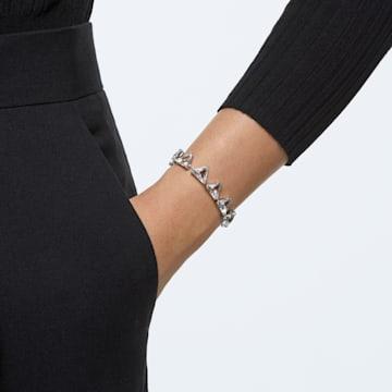 Millenia bracelet, Spike triangle cut crystals, White, Rhodium plated - Swarovski, 5600864