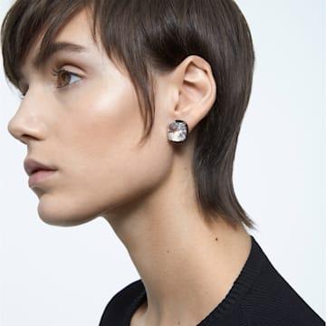 Boucles d'oreilles Harmonia, Cristaux taille coussin, Blanc, Finition mix de métal - Swarovski, 5600943