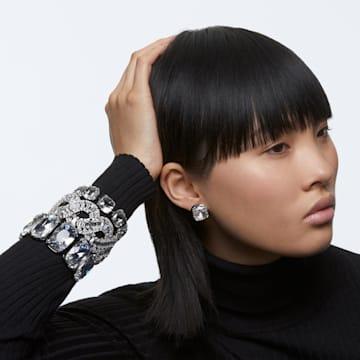 Harmonia 耳钉, 枕形切割仿水晶, 白色, 多种金属润饰 - Swarovski, 5600943