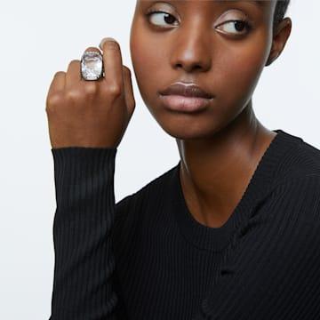 Harmonia 戒指, 超大悬浮仿水晶, 白色, 多种金属润饰 - Swarovski, 5600946