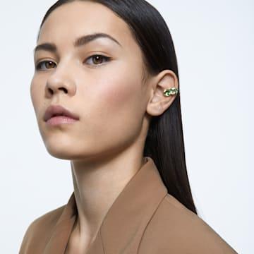 Millenia Ear Cuff, Einzel, Grün, Goldlegierung - Swarovski, 5602389