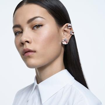 Millenia clip earring, White, Rhodium plated - Swarovski, 5602413