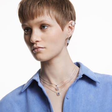 Millenia 夹式耳环, 白色, 镀铑 - Swarovski, 5602413