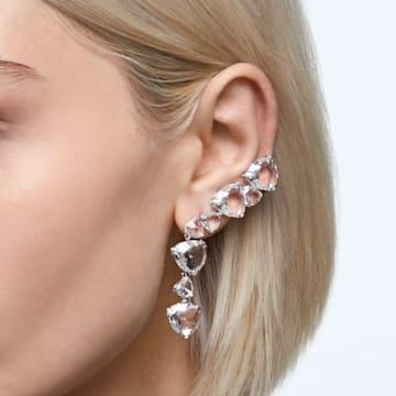 Millenia ear cuff, Single, White, Rhodium plated - Swarovski, 5602846