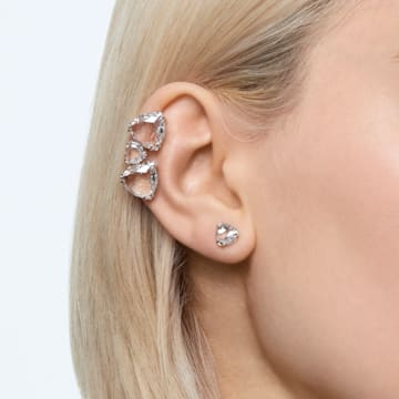 Millenia ear cuff, Asymmetrical, Set, White, Rhodium plated - Swarovski, 5602846