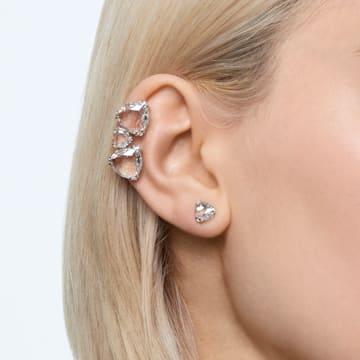 Pendientes Ear Cuff Millenia, Asimétrico, Conjunto, Blanco, Baño de rodio - Swarovski, 5602846