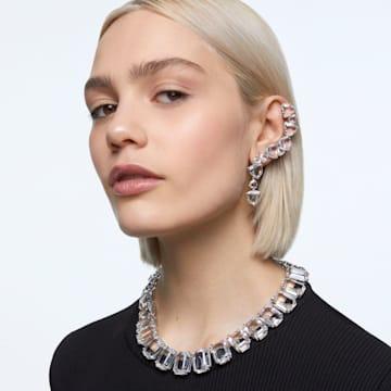 Millenia Ear Cuff, Asymmetrisch, Set, Weiss, Rhodiniert - Swarovski, 5602846