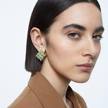 Curiosa 귀걸이, 싱글, 그린, 골드 톤 플래팅 - Swarovski, 5606950