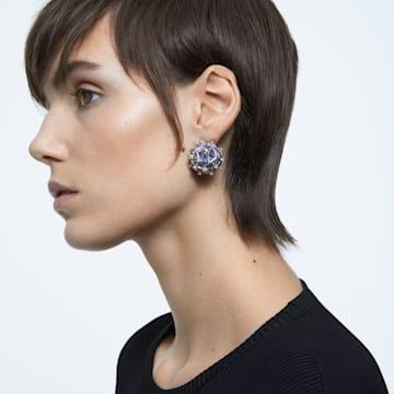 Curiosa 耳釘耳環, 單個, 球形切割, 藍色, 鍍金色色調 - Swarovski, 5606952