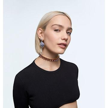 Curiosa 耳釘耳環, 單個, 藍色, 鍍金色色調 - Swarovski, 5607211
