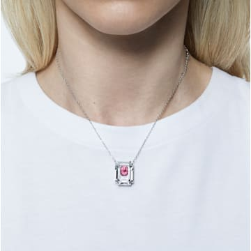 Chroma 项链, 粉红色, 镀铑 - Swarovski, 5608647