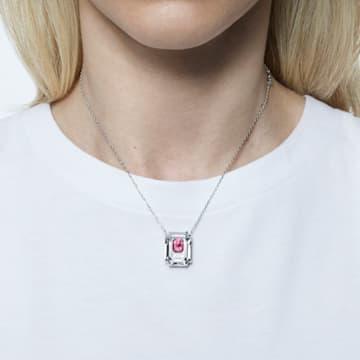 Colier Chroma, Roz, Placat cu rodiu - Swarovski, 5608647