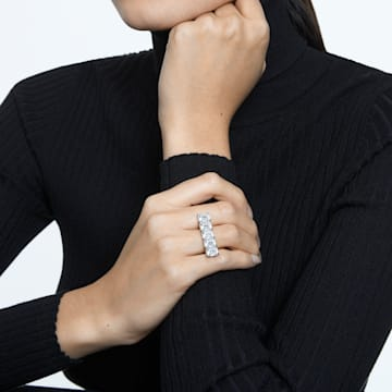 Millenia Cocktail Ring, Weiss, Rhodiniert - Swarovski, 5609004
