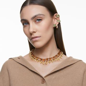 Millenia 项链, 方形切割仿水晶, 黄色, 镀金色调 - Swarovski, 5609705