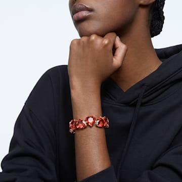 Millenia 手鏈, 三角形切割Swarovski水晶, 橙色, 鍍金色色調 - Swarovski, 5609713